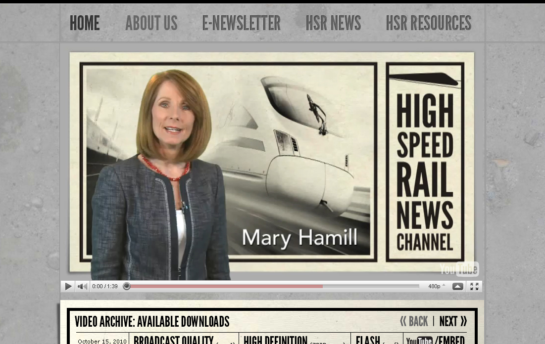 Top High Speed Rail News Channel Stories for 2010