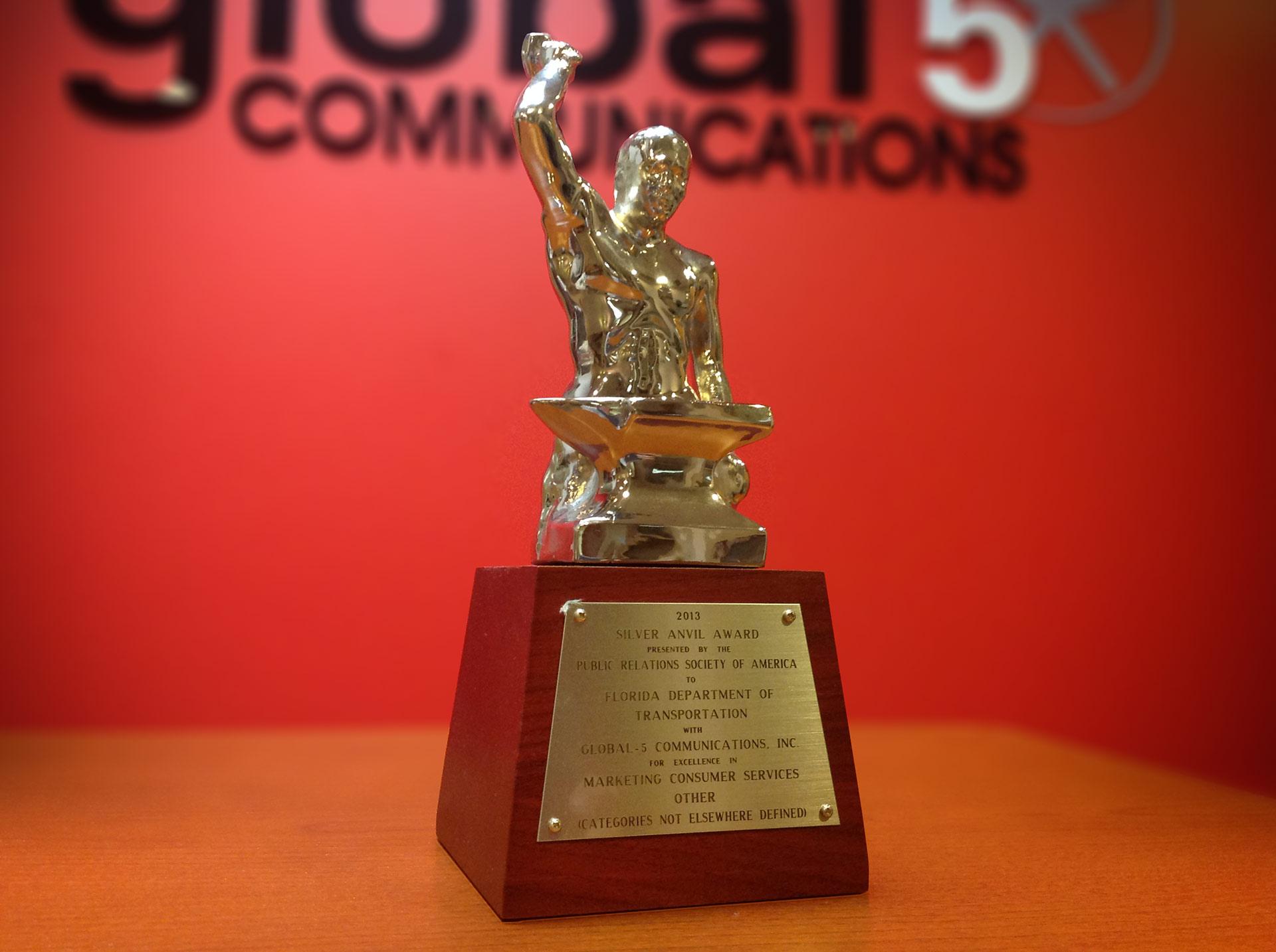 Global-5 Communications Wins 2013 PRSA Silver Anvil Award — Industry's Highest Honor