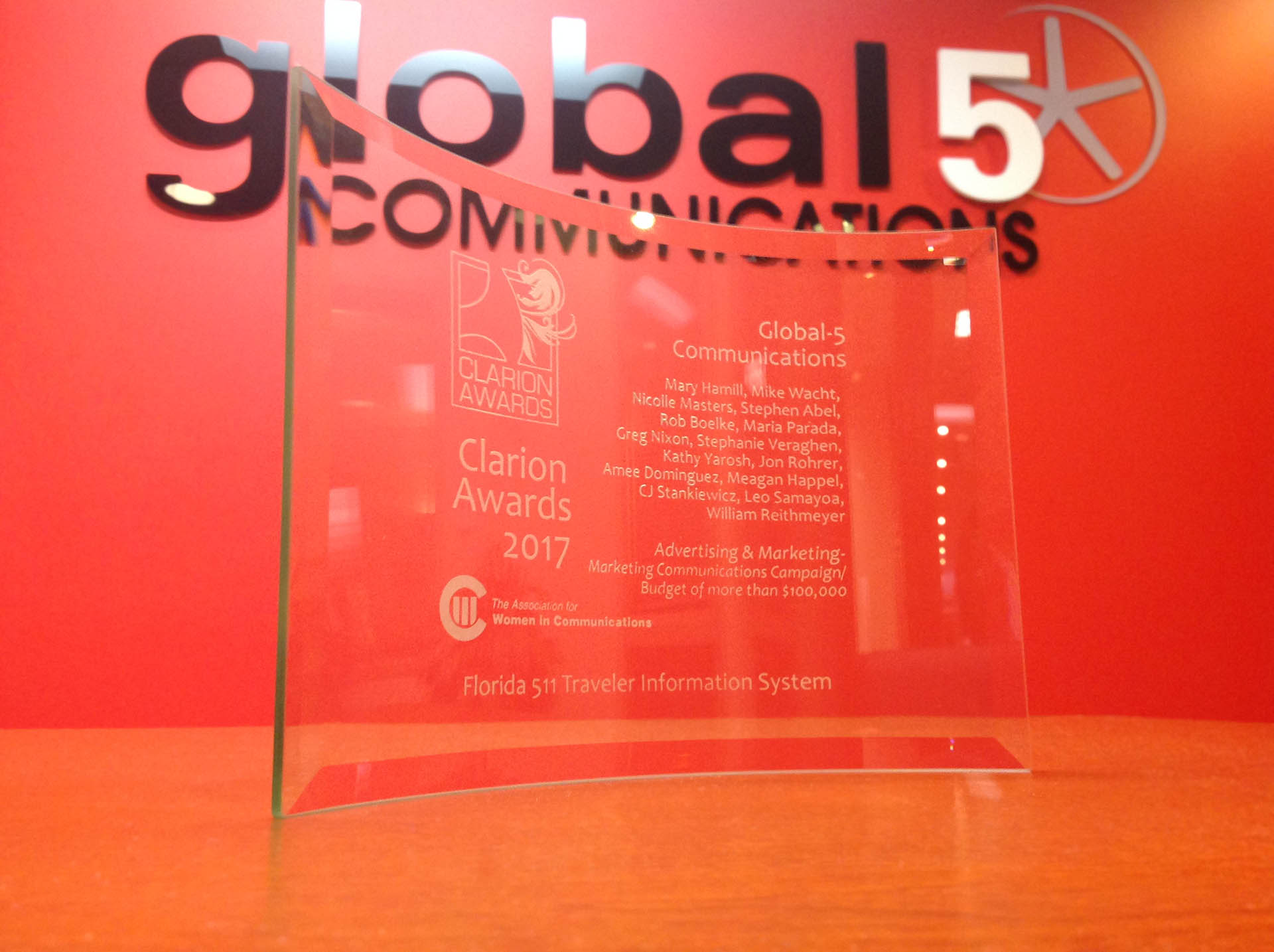 Global-5 Communications CEO Mary Hamill Wins 2017 Clarion Award