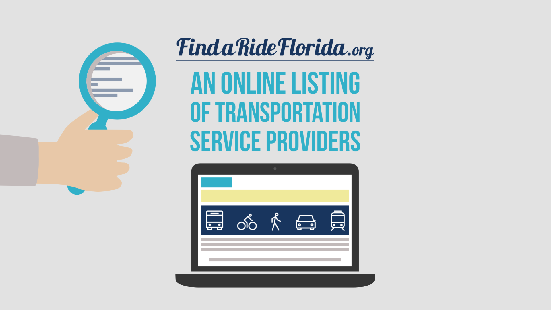 Global-5 develops marketing and outreach campaign for launching FindaRideFlorida.org