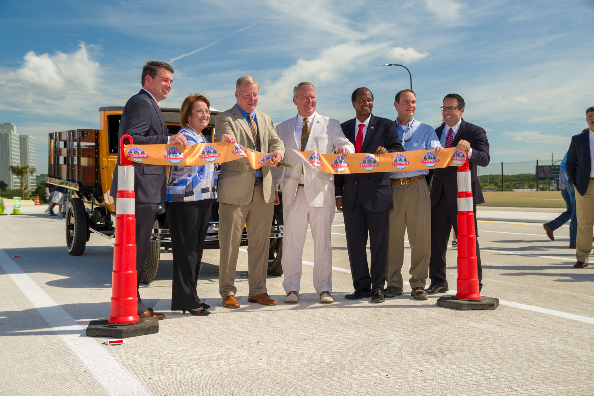 Global-5 organizes media event for ribbon-cutting ceremony to open Grand National Drive I-4 overpass