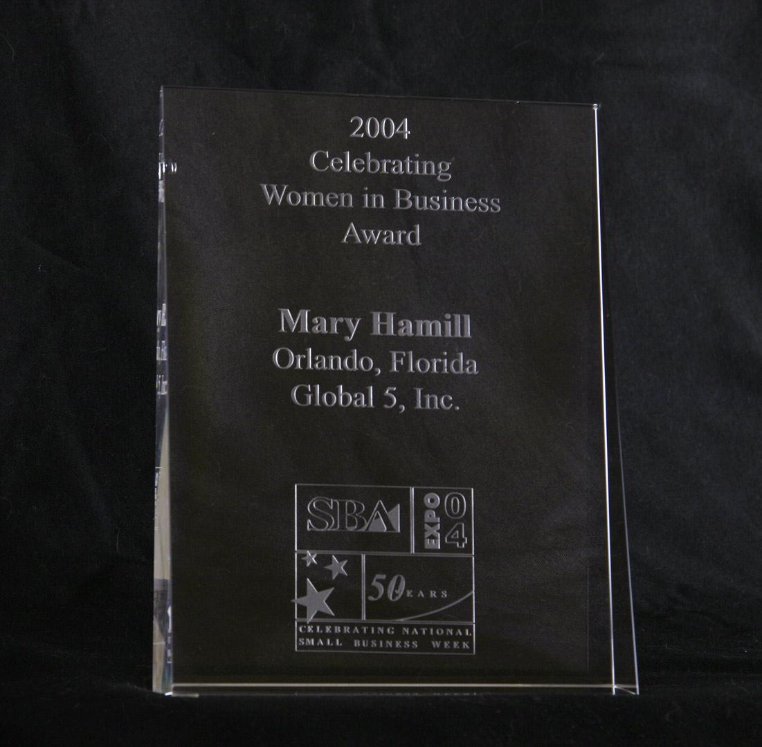 SBA's 2004 Top Five Women Entrepreneurs