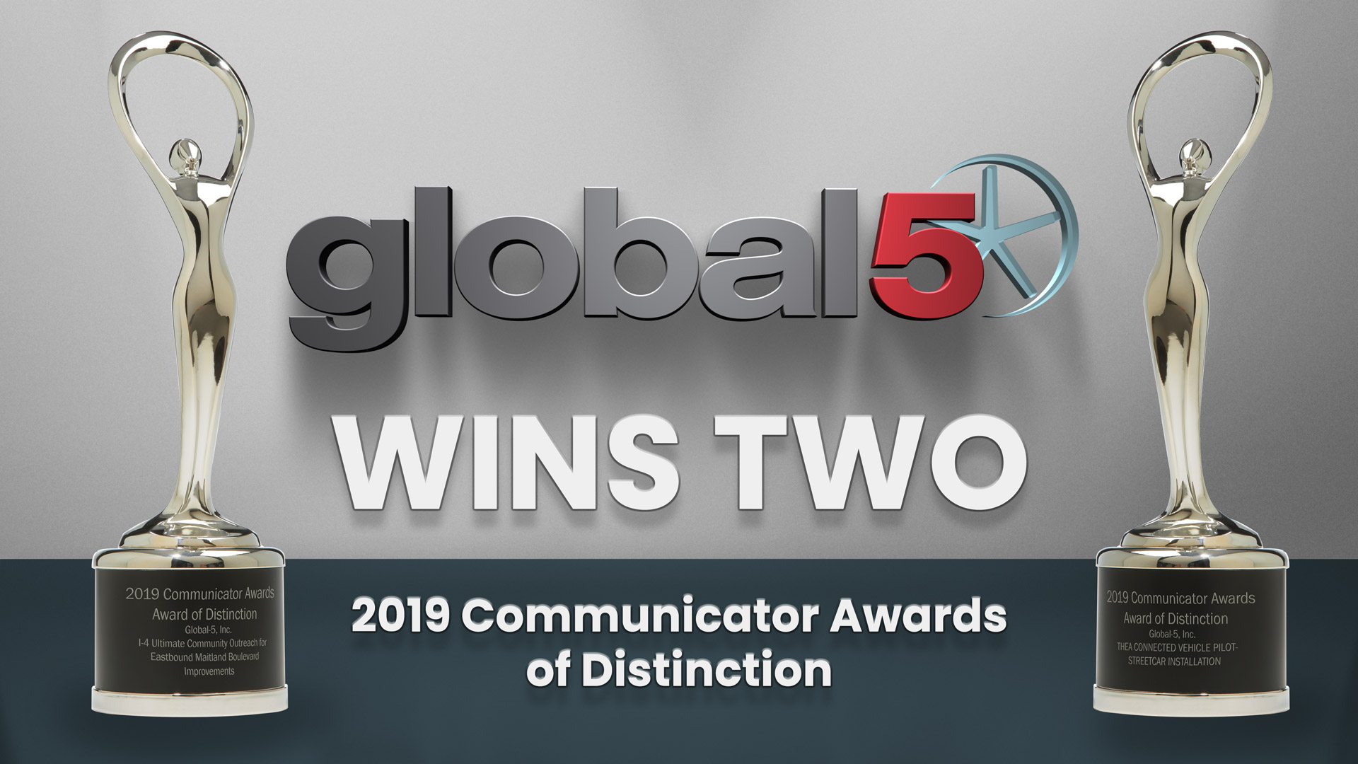 Global-5 Wins Two 2019 Communicator Awards of Distinction