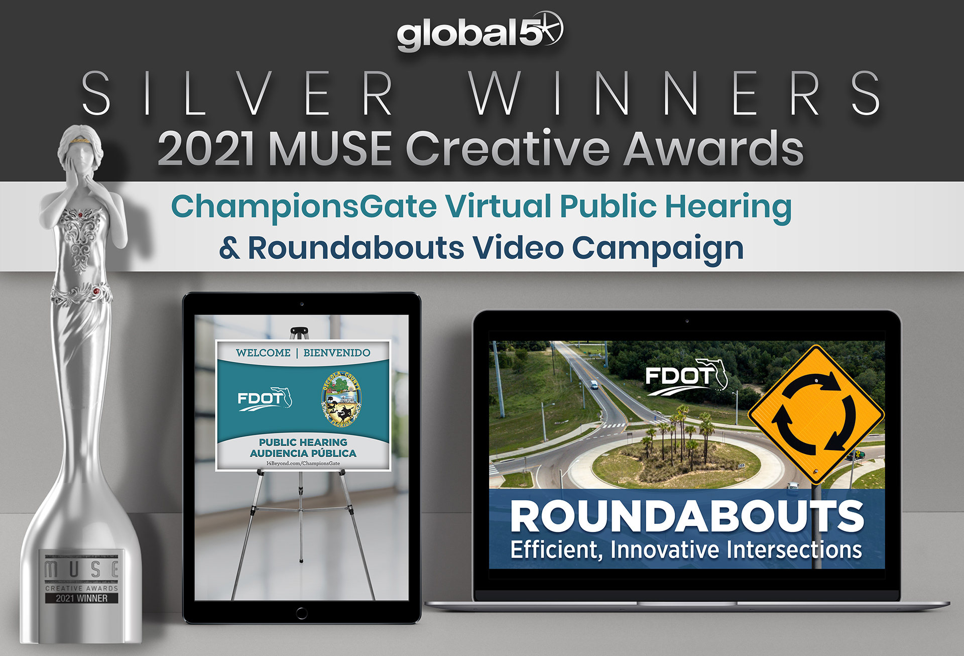 Global-5 Brings Home Two MUSE Creative Awards